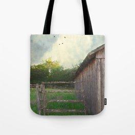 Rustic Summer Barnyard Tote Bag