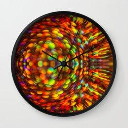 Rainbow  Iridescent Shimmer Wall Clock