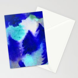 Forest Blanket - Blue Hues Stationery Cards