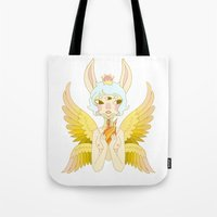 goddess Tote Bags featuring Goddess by neulinu