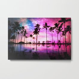 Neon Sunset Metal Print