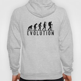 The Evolution Of Man And Hiking Hoody