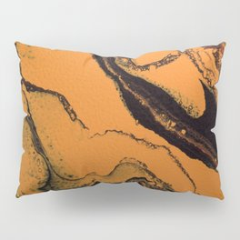 Dirty Acrylic Pour Painting 07, Fluid Art Reproduction Abstract Artwork Pillow Sham
