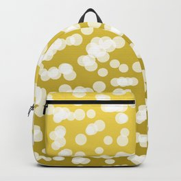 Blurry Lights: Lemon Yellow Backpack