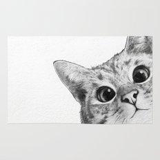 sneaky cat Rug