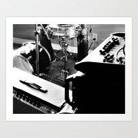 drums Art Prints featuring Drums by Flashbax Twenty Three