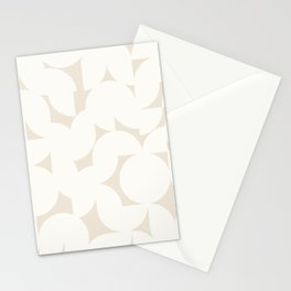 Abstract Shapes - Neutral White I Stationery Cards