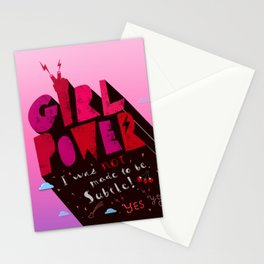 GirlPower Pink - I was not to be subtle! Stationery Cards