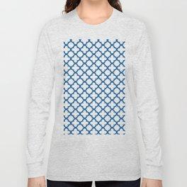 Quatrefoil_Blue Long Sleeve T-shirt