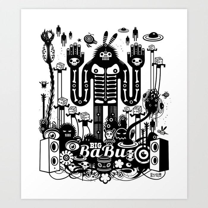 Big Babu Art Print