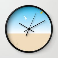 skyfall Wall Clocks featuring skyfall by berg with ice