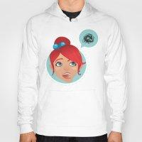 redhead Hoodies featuring redhead bla by adi katz