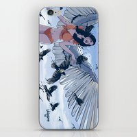 raven iPhone & iPod Skins featuring Raven by Radical Ink by JP Valderrama