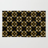 floral pattern Area & Throw Rugs featuring Floral Pattern by Christina Rollo