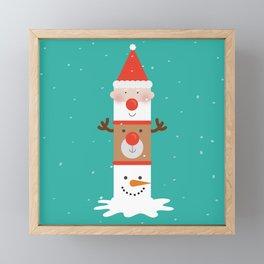 Holiday Totem Framed Mini Art Print