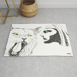 Lion and Man Rug
