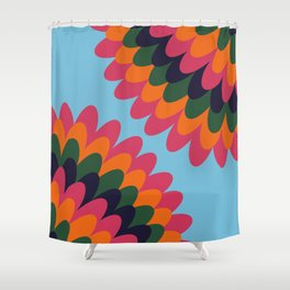 Dahlia on an island Shower Curtain