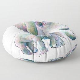 Rhino & Baby Floor Pillow