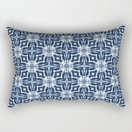 Watercolor Shibori Indigo Rectangular Pillow