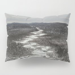 Frozen Adirondack River Pillow Sham