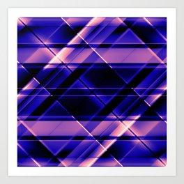 modern stripes pattern c10 Art Print
