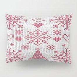 Christmas Cross Stitch Sampler Pillow Sham