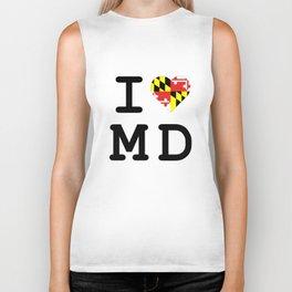 I Heart MD Biker Tank