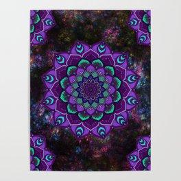 beauty mandala in purple Poster