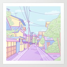Lost in Japan Art Print