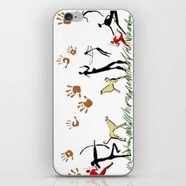 Cavemen White iPhone Skin