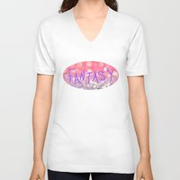 fantasy V-neck T-shirts featuring Fantasy by Lisa Argyropoulos