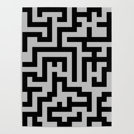 Black and Gray Labyrinth Poster