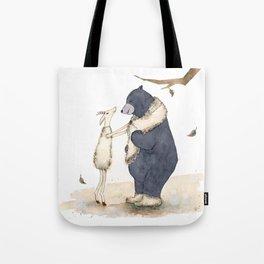 Winter gift for Bear Tote Bag