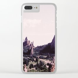 Jagged Rocks Clear iPhone Case
