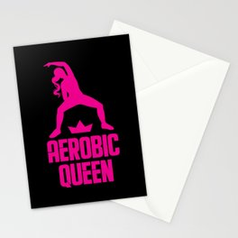 Aerobic Queen Fitness Coach Personal Trainer Gift Stationery Cards