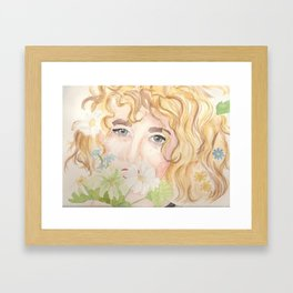 Flower Girl Framed Art Print