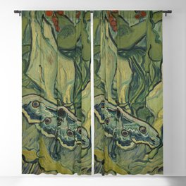 "Vincent Van Gogh ""Emperor Moth (The giant peacock moth)"" Blackout Curtain"