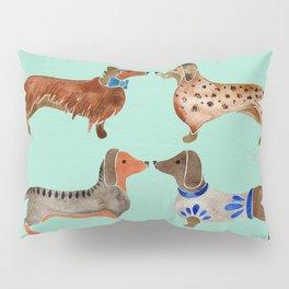 Dachshunds on Blue Pillow Sham