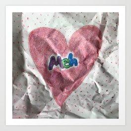 Divorce Valentine Art Print