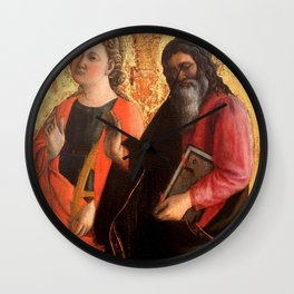 "Fra Filippo Lippi ""Saint Catherine and an evangelist"" Wall Clock"