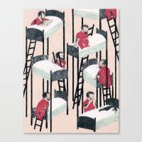 snow white Canvas Prints featuring Snow White by Nicolai Troshinsky