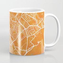 Luton, England, Gold, Blue, City, Map Coffee Mug