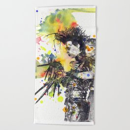 Edward Scissor Hands Beach Towel