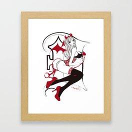 SHE-DEVIL BRA TOP Framed Art Print