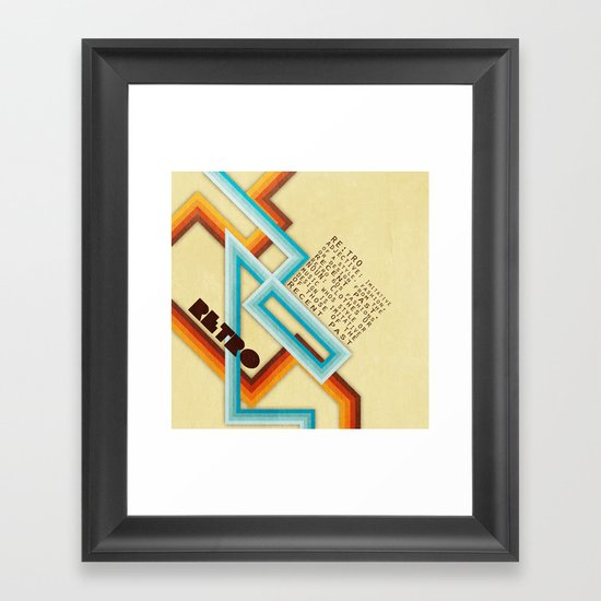 Retro Meaning Framed Art Print