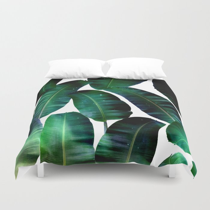 Cosmic Banana Leaves #society6 #decor #buyart Duvet Cover