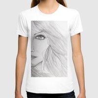emma stone T-shirts featuring Emma Stone Drawing by Olivia Scotton