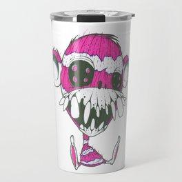 Creepy sock Monkey Travel Mug