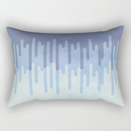 Melting blue Rectangular Pillow