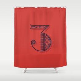Alphabet Drop Cap Series Shower Curtain